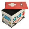 Κουτί αποθήκευσης - παιδικό σκαμπό - ασθενοφόρο