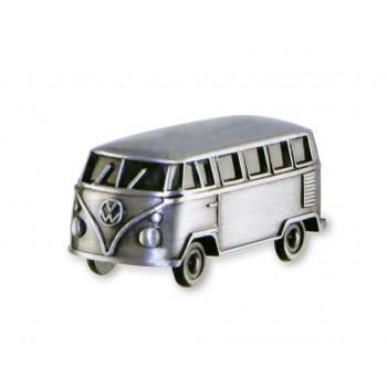 Μαγνητάκι ψυγείου VW T1 Bus 3D, Vintage silver