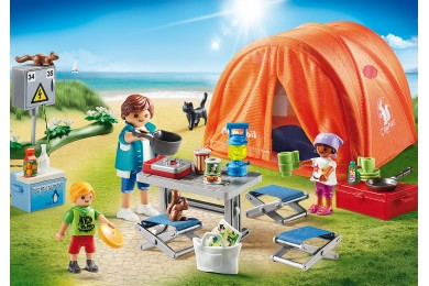 Οικογενειακή σκηνή Camping PLAYMOBIL