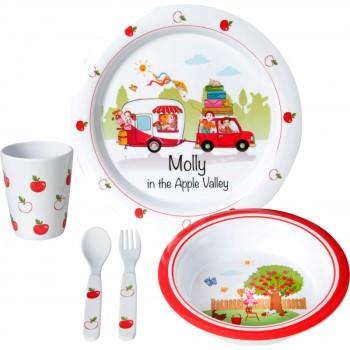 Σετ φαγητού Molly Kids Girl 3+ (5 τεμ.)